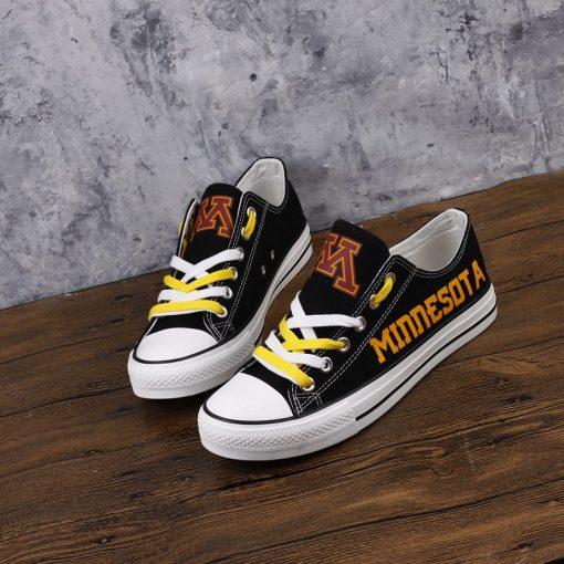 MinnesotaGoldenGophers Low Top Canvas Shoes Sport