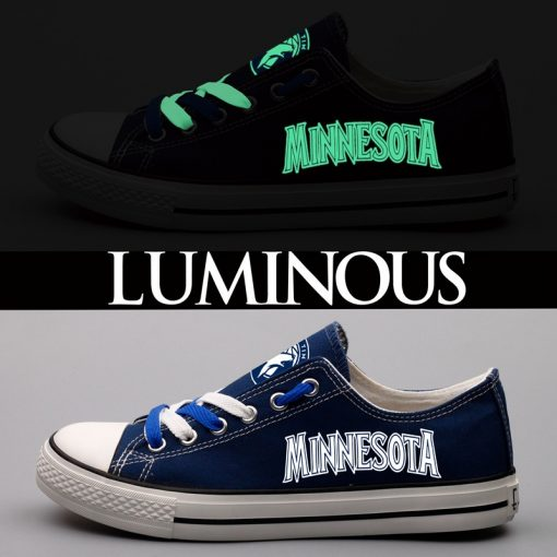 Minnesota Timberwolves Limited Luminous Low Top Canvas Sneakers