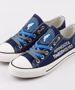 Minnesota Timberwolves Low Top Canvas Sneakers