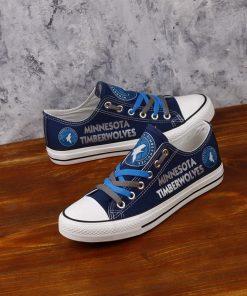 Minnesota Timberwolves Low Top Canvas Sneakers