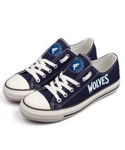 Minnesota Timberwolves Low Top Canvas Shoes Sport