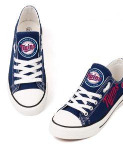 Minnesota Twins Low Top Canvas Shoes Sport