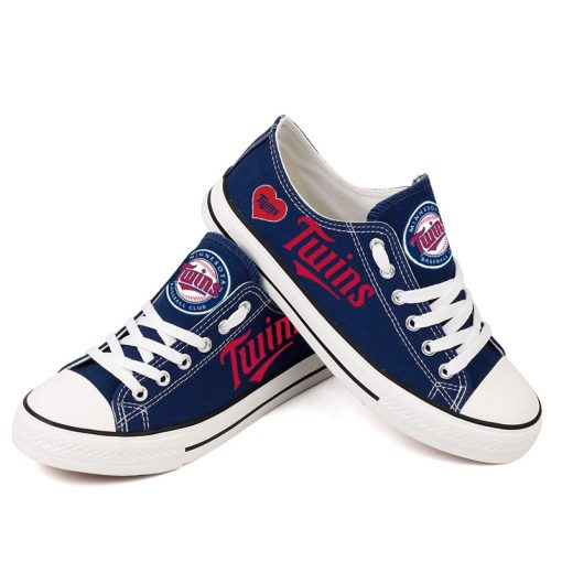 Minnesota Twins Low Top Canvas Shoes Sport