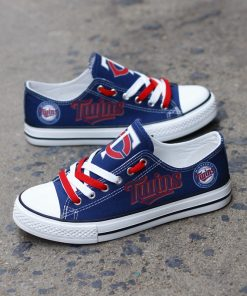 Minnesota Twins Limited Low Top Canvas Shoes Sport