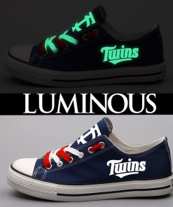 Minnesota Twins Limited Luminous Low Top Canvas Sneakers