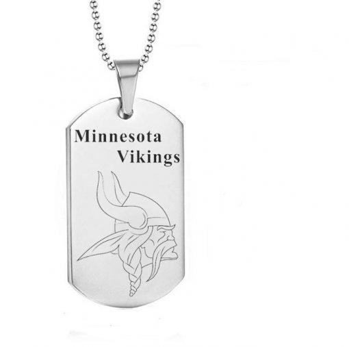Minnesota Vikings Engraving Tungsten Necklace