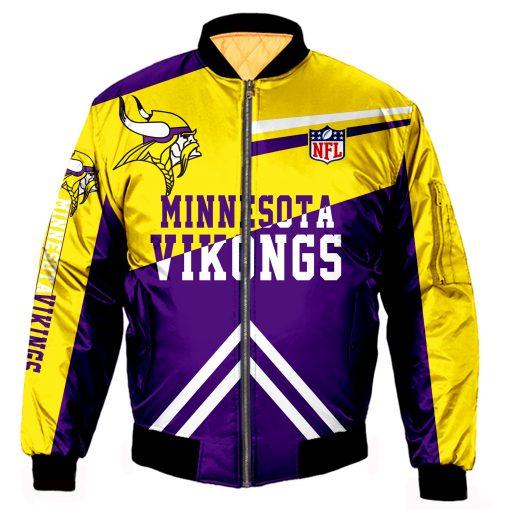 Minnesota Vikings Fans Bomber Jacket Men Women