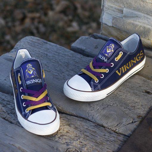 Minnesota Vikings Limited Low Top Canvas Sneakers