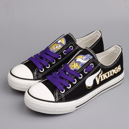 Minnesota Vikings Limited Low Top Canvas Shoes Sport