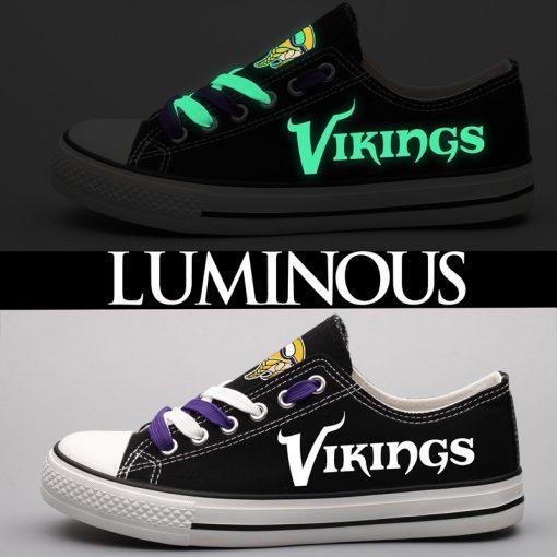 Minnesota Vikings Limited Luminous Low Top Canvas Sneakers