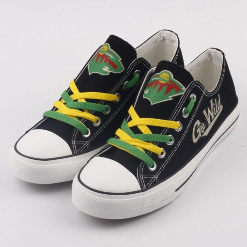 Minnesota Wild Limited Fans Low Top Canvas Sneakers