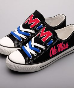 Mississippi Rebels Limited Low Top Canvas Shoes Sport