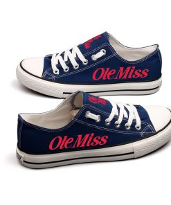 Mississippi Rebels Limited Low Top Canvas Sneakers