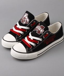 MississippiStateBulldogs Limited Low Top Canvas Shoes Sport