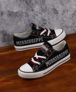 MississippiStateBulldogs Limited Low Top Canvas Sneakers