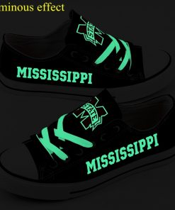 Mississippi State Bulldogs Limited Luminous Low Top Canvas Sneakers