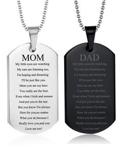 Family Couples Lovers Engraving Tungsten Necklace DIY