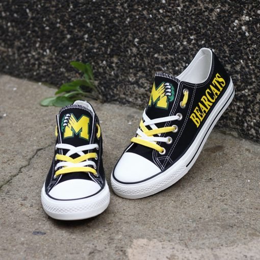 Moody Bearcats Limited High School Students Low Top Canvas Sneakers