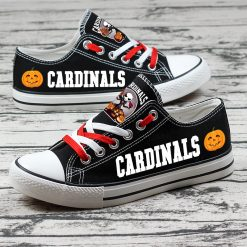 Arizona Cardinals Halloween Jack Skellington Canvas Sneakers