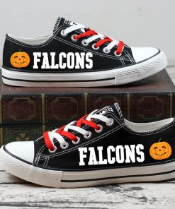 Atlanta Falcons Halloween Jack Skellington Canvas Sneaker