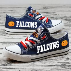 Atlanta Falcons Limited Halloween Jack Skellington Canvas Sneakers