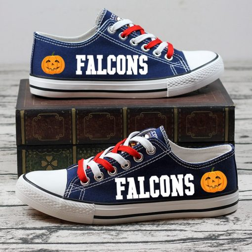 Atlanta Falcons Limited Halloween Jack Skellington Canvas Sneakers