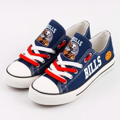 Buffalo Bills Halloween Jack Skellington Canvas Sneakers