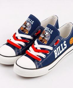Buffalo Bills Halloween Jack Skellington Canvas Sneakers
