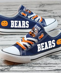 Chicago Bears Halloween Jack Skellington Printed Canvas Shoes Sport