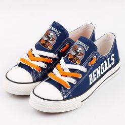 Cincinnati Bengals Halloween Jack Skellington Printed Canvas Sneakers