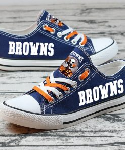 Cleveland Browns Halloween Jack Skellington Canvas Shoes Sport