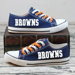 Cleveland Browns Halloween Jack Skellington Canvas Shoes Sport