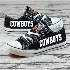 Dallas Cowboys Halloween Jack Skellington Canvas Sneakers