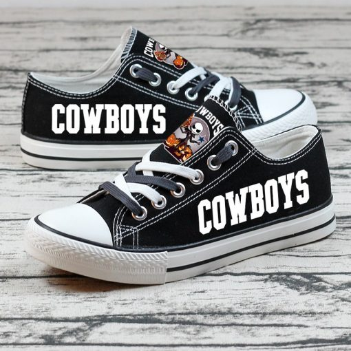 Dallas Cowboys Halloween Jack Skellington Canvas Sneakers