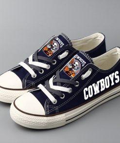 Dallas Cowboys Halloween Jack Skellington Printed Canvas Shoes Sport