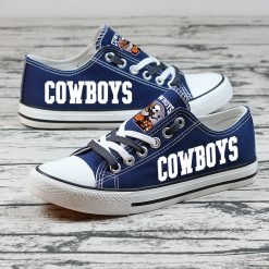 Dallas Cowboys Halloween Jack Skellington Printed Canvas Shoes Sport