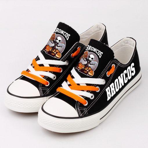 Denver Broncos Halloween Jack Skellington Canvas Sneakers
