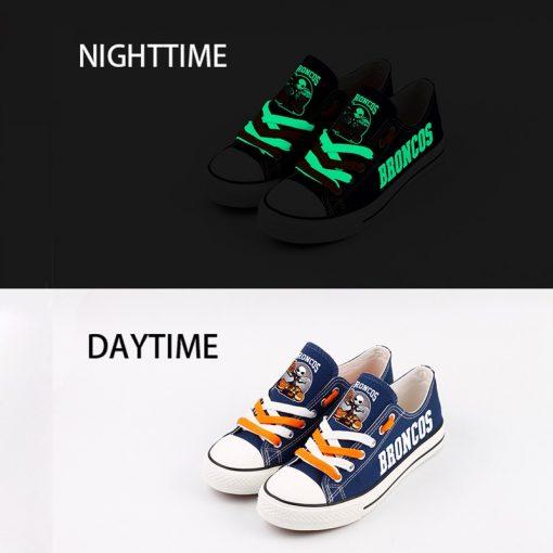 Broncos Halloween Jack Skellington Canvas Sneakers