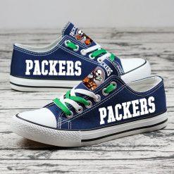 Green Bay Packers Halloween Jack Skellington Canvas Sneakers
