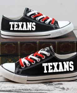 Houston Texans Halloween Jack Skellington Canvas Sneakers
