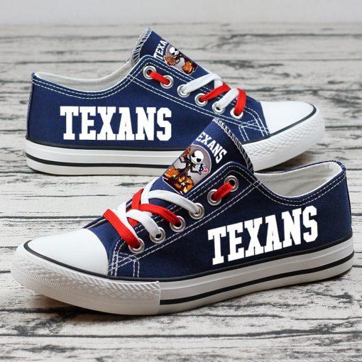 Houston Texans Halloween Jack Skellington Canvas Shoes Sport