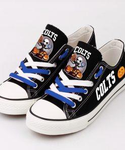 Indianapolis Colts Halloween Jack Skellington Canvas Shoe Sport