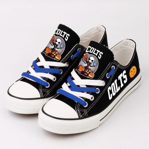 Indianapolis Colts Halloween Jack Skellington Canvas Shoe Sport
