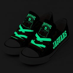 Jacksonville Jaguars Halloween Jack Skellington Canvas Sneakers