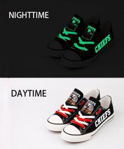 Kansas City Chiefs Halloween Jack Skellington Canvas Shoe Sneakers