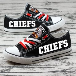 Kansas City Chiefs Halloween Jack Skellington Canvas Shoe Sneakers