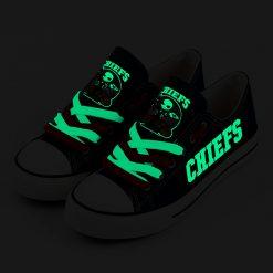 Kansas City Chiefs Halloween Jack Skellington Canvas Shoe Sport