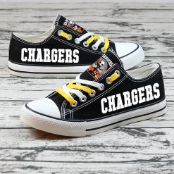 Los Angeles Chargers Halloween Jack Skellington Canvas Sneakers