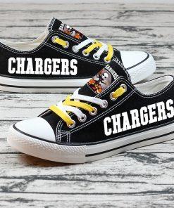 Los Angeles Chargers Halloween Jack Skellington Canvas Sneakers