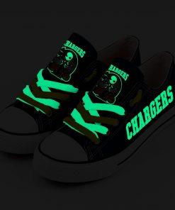 Chargers Halloween Jack Skellington Canvas Sneakers
